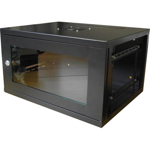 Cabinet 6u 9u 450mm 550mm Deep Wall Mountable In Black