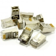 Cat5 Shielded  RJ45 LAN Crimps Ends x10